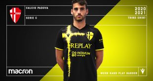 Black & Fluo Yellow in new Macron third for Padova Calcio!