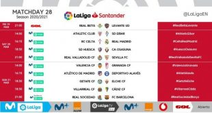 Kick-off times released for Matchday 28 of 2020/21 LaLiga!