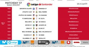 Kick-off times released for Matchday 37 of 2020/21 LaLiga!
