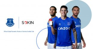 Everton FC sign-up fintech innovators Sokin as official Global Payments partner!