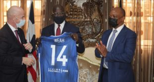 Liberian president George Weah announced as Ambassador for Pan-African Inter-School Championship!