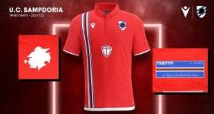 Macron launch the UD Sampdoria's 2021/22 season third kit in red!