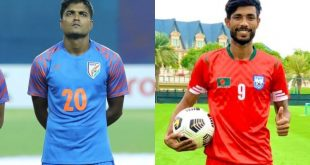 India's Pritam Kotal lends a helping hand to Bangladesh striker Jibon!