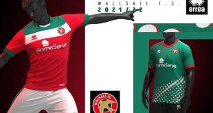 Errea & Walsall FC present the clubs 2021/22 home & away kits!