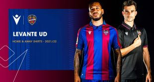 Azulgranas bands with elegant stripes & total black in new Macron-made Levante UD kits!