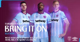 UMBRO launch West Ham United 2021/22 season away kit!