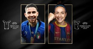 Jorginho and Alexia Putellas voted UEFA Players of the Year!