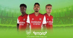 eToro adds Arsenal FC to Premier League partnerships!